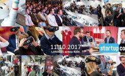 Die StartupCon lädt im Oktober 2017 in die Kölner LANXESS Arena ein